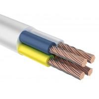 Провод соединительный ПВС 4х1,5 мм² 100 м белый ГОСТ 7399-97