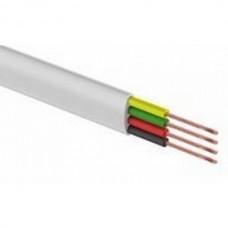 Телефонный кабель ШТЛП REXANT 4 жилы CCA, белый, бухта 100 м