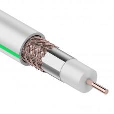 Кабель коаксиальный PROconnect SAT 703B, 75 Ом, CCS/Al/Al, 75%, бухта 20 м, белый