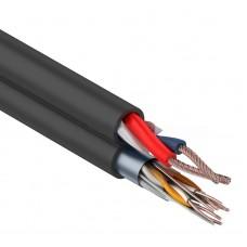 Мульти-кабель FTP 4PR, 24AWG, CAT5e+2х0,75 мм² (бухта 200 м) черный REXANT