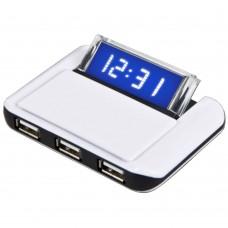 USB-концентратор CBR CH-230, 3 порта, часы
