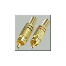 Разъем RCA (папа) металл Premier 1-208