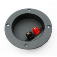Терминал аудио круглый пластик на корпус Premier 1-725
