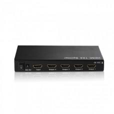 Разветвитель 1 HDMI вход => 4 HDMI выхода Premier 5-872-4