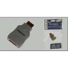 Переход mini HDMI (шт) - HDMI (гн) Premier 5-896
