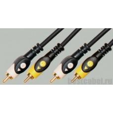 Аудио кабель 2RCA-2RCA PRO-class пластик Premier 5-204 (1м)